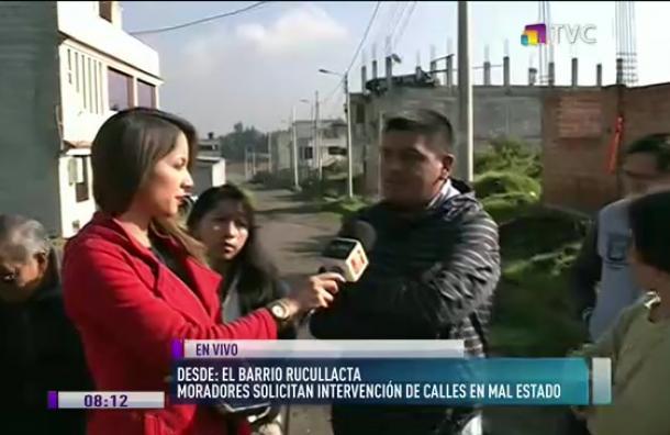 Barrio Rucullacta: Moradores solicitan intervención de calles en mal estado