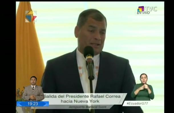 Presidente Correa se refirió a temas de interés público