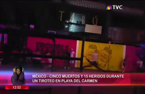 Tiroteo en Playa del Carmen deja 5 fallecidos