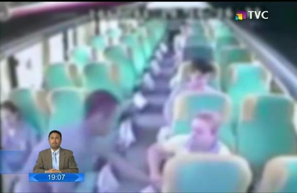 Policía detuvo a los dos sospechosos que asaltaron a pasajeros de un bus
