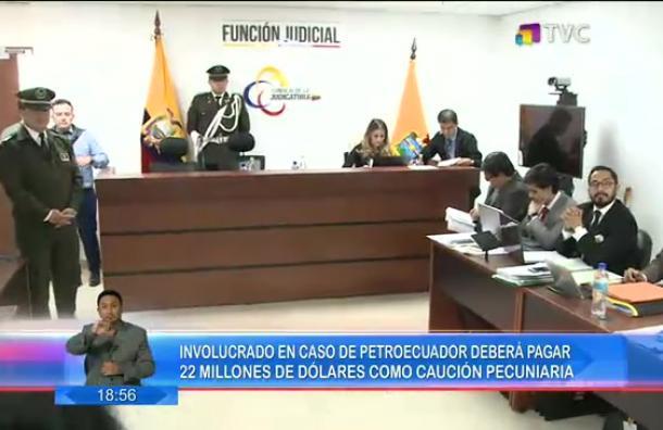 Involucrado en el «caso Petroecuador» tendrá que cancelar 22 millones de dólares