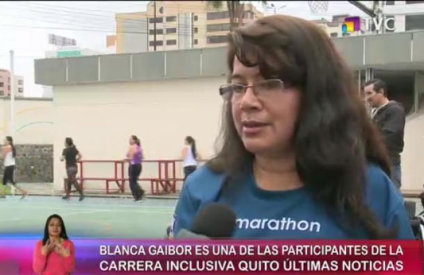 Conoce una de las participantes de la carrera inclusiva «Quito Últimas Noticias 15K»