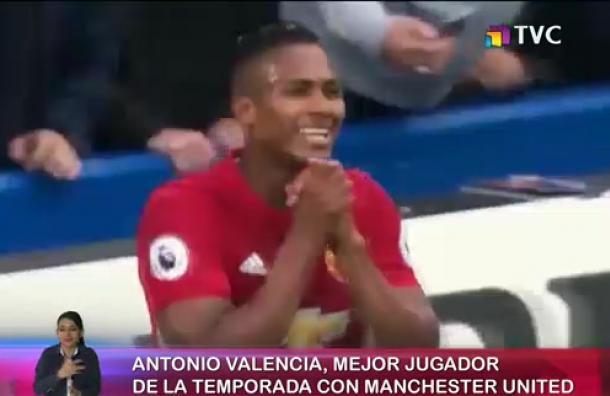 Antonio Valencia escogido como el mejor jugador de la temporada
