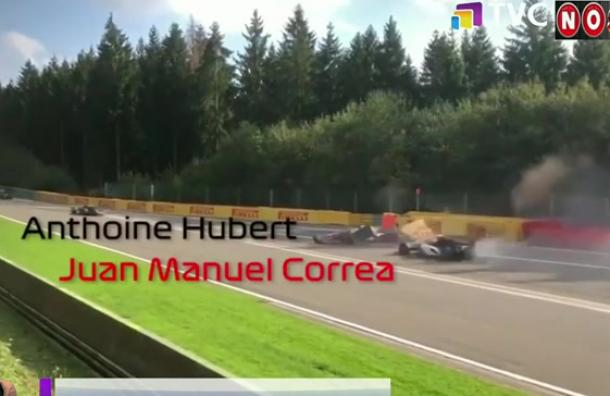 Piloto ecuatoriano Juan Manuel Correa sufrió impactante accidente en la F2