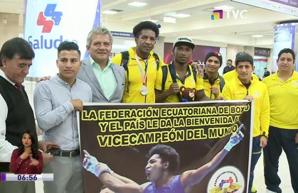 Julio Castillo arribó al país tras su exitosa participación en el Mundial de Rusia