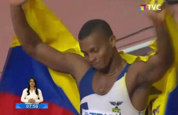 Álex Quiñónez obtuvo medalla de bronce en el Mundial de Atletismo