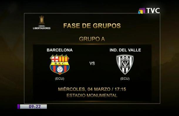 Barcelona recibe a Independiente en Grupo A de la Libertadores