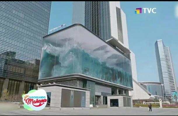 Crean una réplica del mar en un edificio