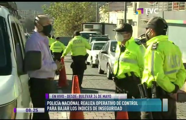 Policía Nacional realiza controles en Bulevar 24 de mayo