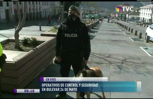 Policía realiza controles en Bulevar 24 de Mayo
