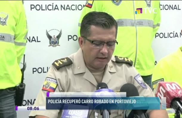 Policía recupera carro robado en Portoviejo