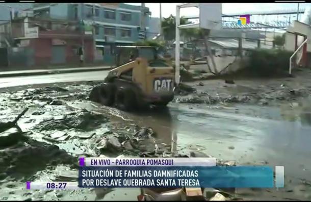 Revisamos situación de la Parroquia Pomasqui tras deslave