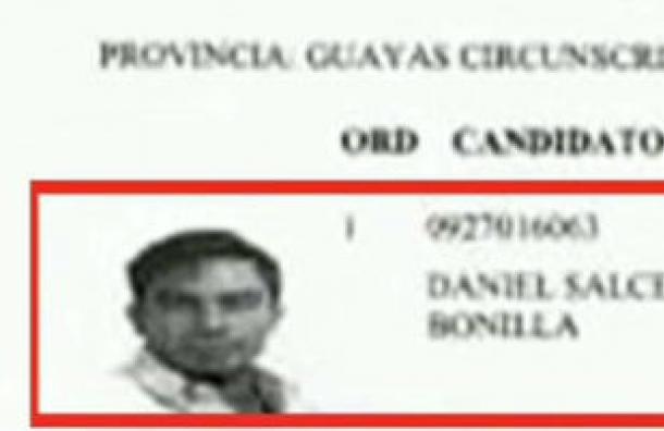 CNE confirmó la inscripción de Daniel Salcedo por Fuerza EC