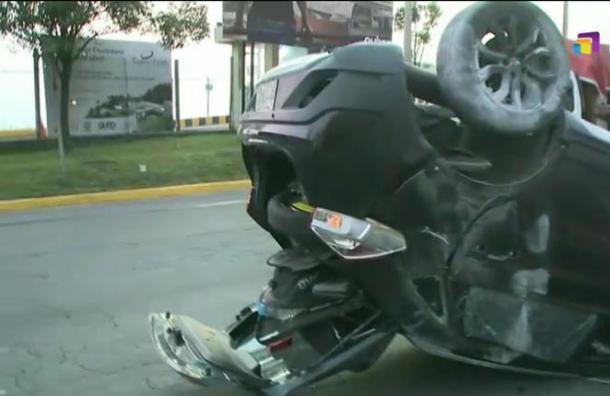 Se registra accidente de tránsito sobre la Avenida Simón Bolívar