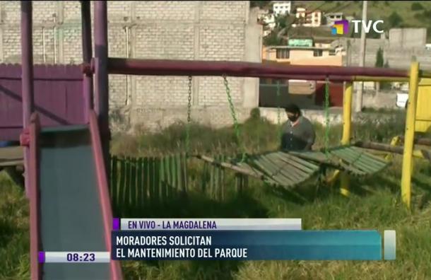 Moradores solicitan mantenimiento de parque en La Magdalena