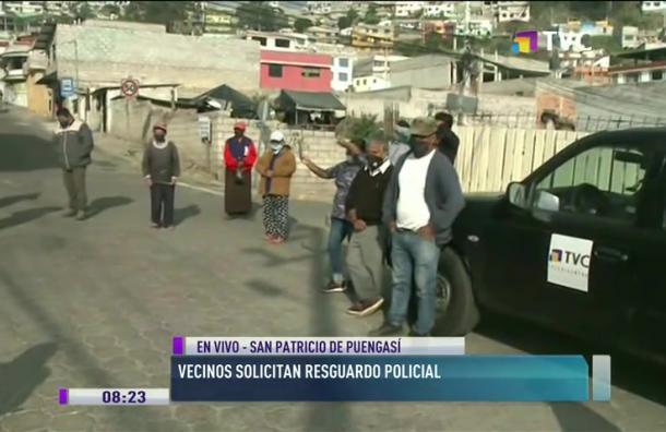 Vecinos solicitan resguardo policial en Puengasí