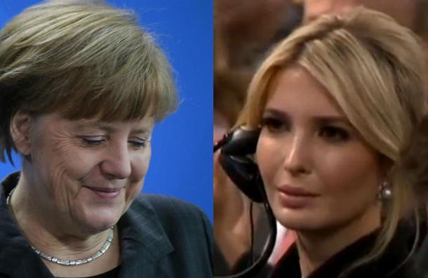 Merkel se burla del Gobierno de Trump… frente a su hija Ivanka